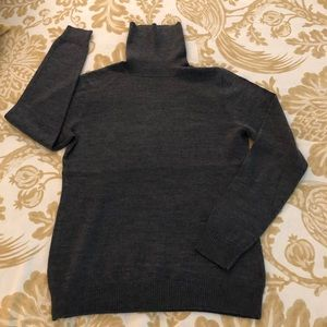 Relativity Gray Turtleneck Sweater